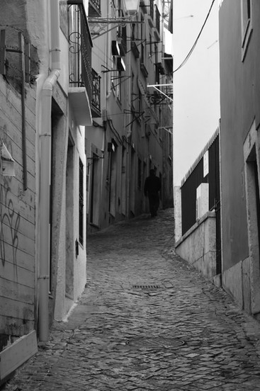the typical Alfama streets