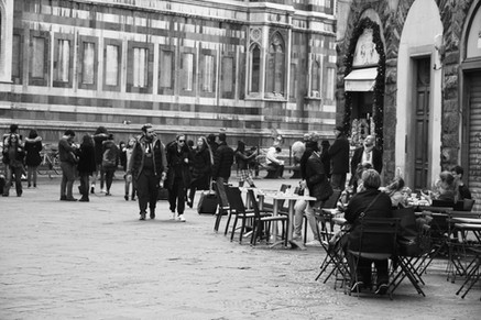 Coffee shops around Florence's Cathedral