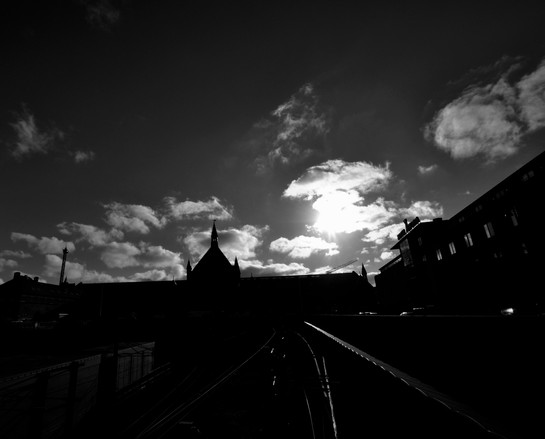 Train station silhouette