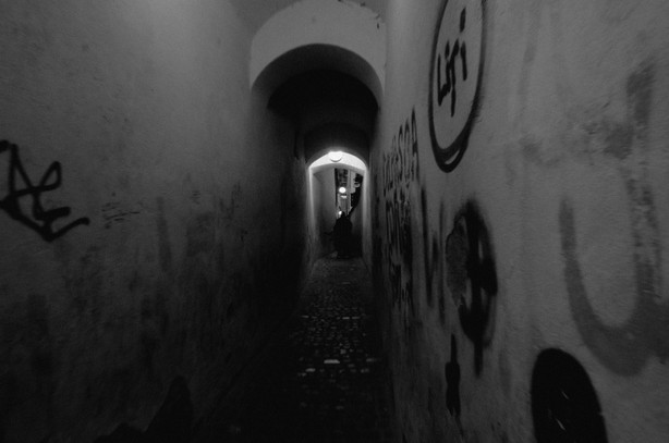 Another close shot of Strada Sforii (Rope Street)