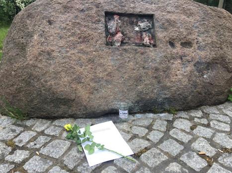Gedenkstein für Frank Böttcher in Magdeburg, Olvenstedt