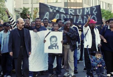 Gedenkdemonstration an Alberto Adriano, Juni 2000