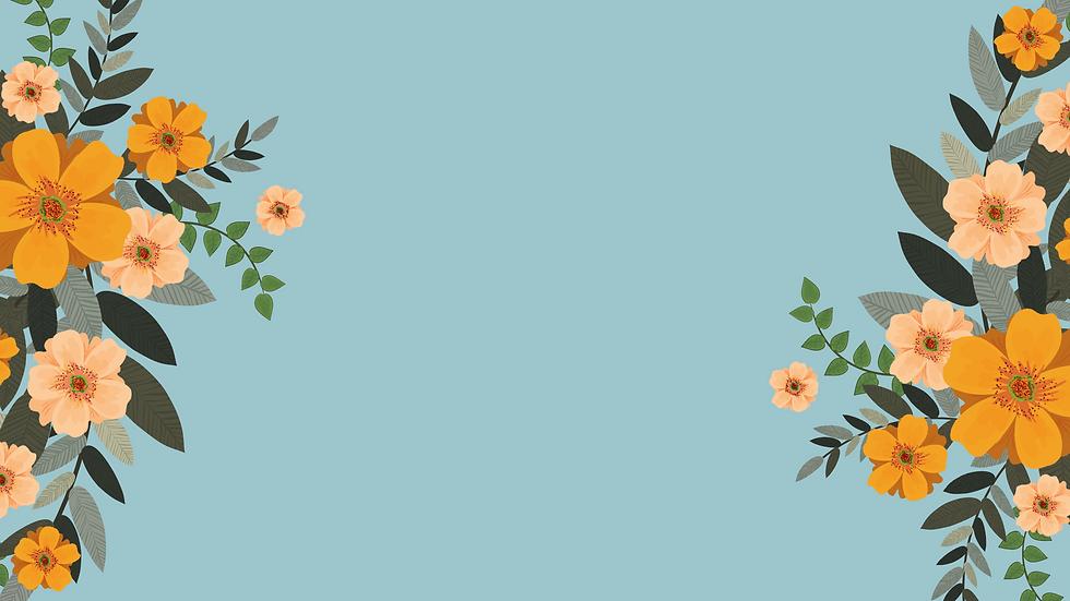 Blue Flowers Illustration Spring Desktop