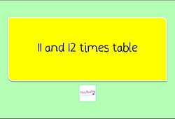 Year 4 Multiplication and Division 11 and 12 times table
