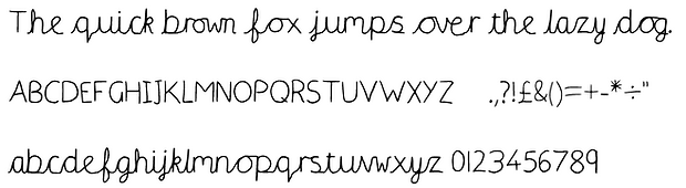 font cursive