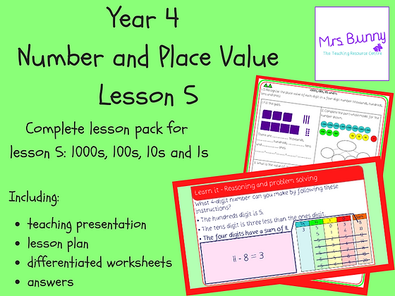 1000s, 10s, 1s lesson pack (Year 4 Number and Place Value)