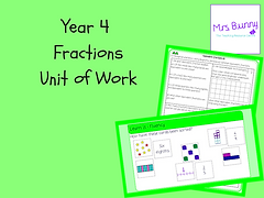 Year 4 Fractions Unit of Work