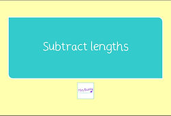 year 3 subtract lengths