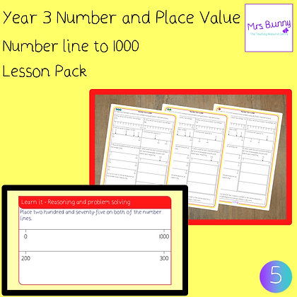 Number line to 1000 lesson pack (Year 3 Number and Place Value)
