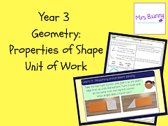 Year 3 Geometry Unit of Work