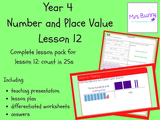 Count in 25s lesson pack (Year 4 Number and Place Value)