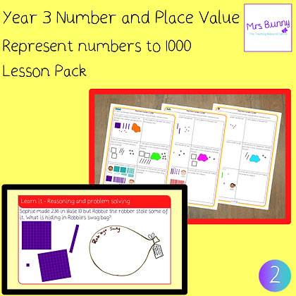 Represent numbers to 1000 lesson pack (Year 3 Number and Place Value)