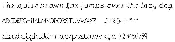 font precursive