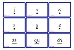Phase 3 graphemes (with sound buttons) flash cards