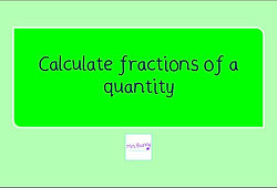 year 4 calculate fractions of amounts