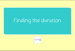 year 3 time finding the duration