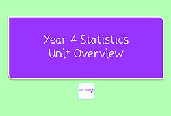 Year 4 Statistics Unit Overview