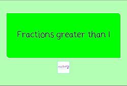 year 4 fractions greater than 1