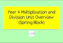 Year 4 Multiplication and Division Unit Overview (Spring term)