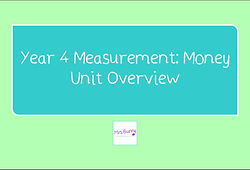 Year 4 Measurement: Money Unit Overview