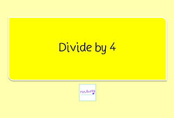 Year 3 Multiplication and Division Divide by 4