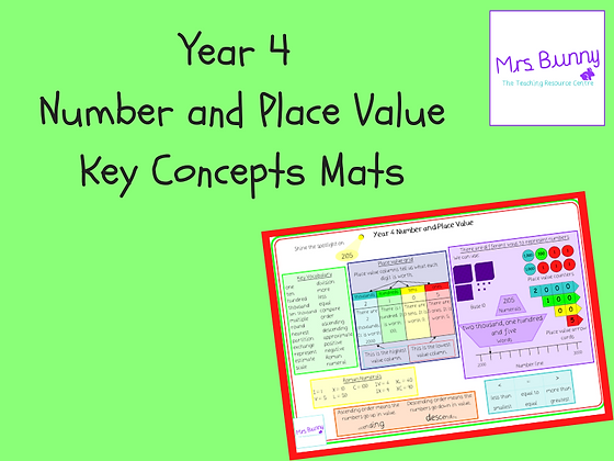 Key concept mats (Year 4 Number and Place Value)