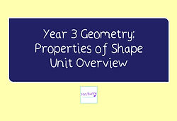 Year 3 Geometry Unit Overview