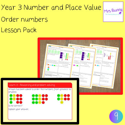 Order numbers lesson pack (Year 3 Number and Place Value)