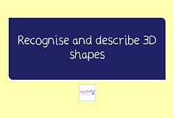 year 3 geometry recognise and describe 3d shapes