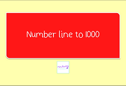 number line to 1000
