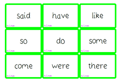 Phase 4 tricky words flash cards