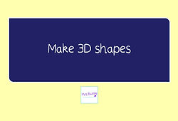 year 3 geometry make 3d shapes