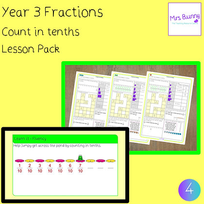 Count in tenths lesson (Year 3 Fractions)