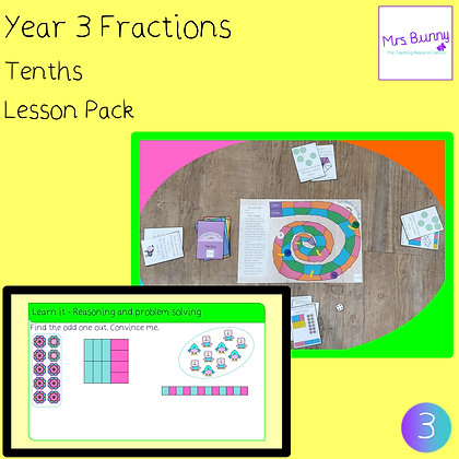 Tenths lesson (Year 3 Fractions)
