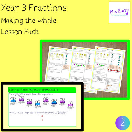 Making the whole lesson (Year 3 Fractions)