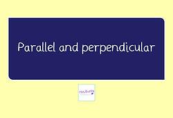 year 3 geometry parallel perpendicular