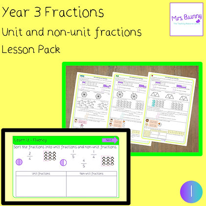 Unit and non-unit fractions lesson (Year 3 Fractions)
