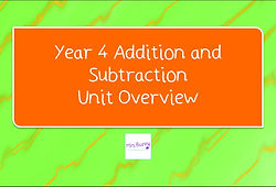 Year 4 Addition and Subtraction Unit Overview