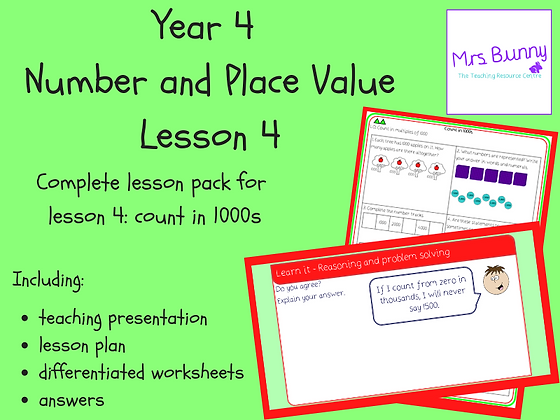 Count in 1000s lesson pack (Year 4 Number and Place Value)