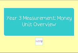 Year 3 Measurement: Money Unit Overview