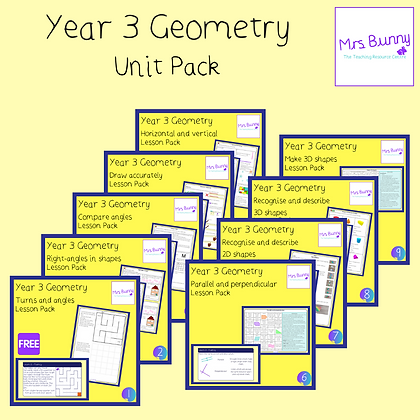Year 3 Geometry Unit Pack