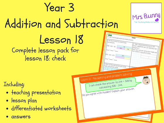 Check lesson pack (Year 3 Addition and Subtraction)