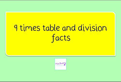 Year 4 Multiplication and Division 9 times table and division facts