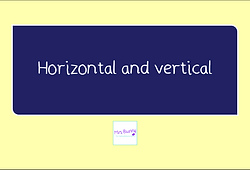 year 3 geometry horizontal and vertical