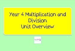 Year 4 Multiplication and Division Unit Overview