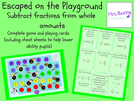 subtract fractions from whole amounts game