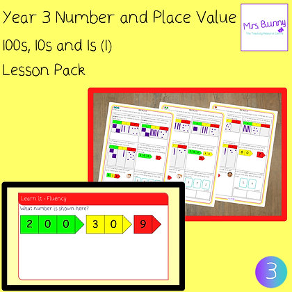 100s, 10s, 1s (1) lesson pack (Year 3 Number and Place Value)
