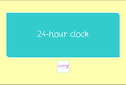 year 3 time 24 hour clock