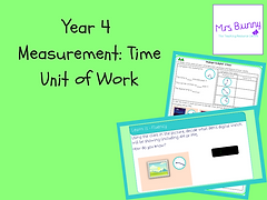 Year 4 Measurement: Time Unit of Work