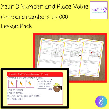 Compare numbers to 1000 lesson pack (Year 3 Number and Place Value)